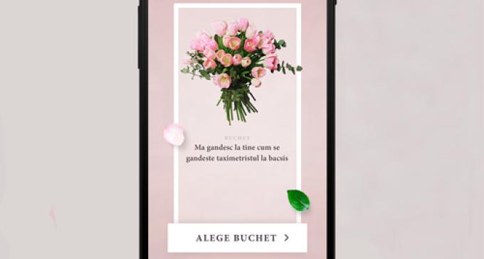 Trimite-i flori ușor și rapid persoanei iubite direct din aplicația Clever Taxi