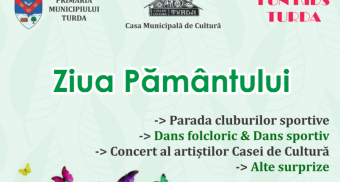 """La Turda se va marca """"Ziua Pământului"""". Activitațile se vor desfășura în parcul central"""