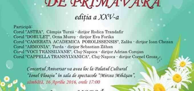 Festivalul Coral de Primăvară a ajuns la ediția a 25-a! Câmpia Turzii, 16 Aprilie 2016.