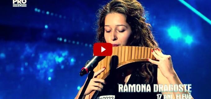 VIDEO – Eleva CNMV Turda, Ramona Dragoste, a făcut spectacol la Românii Au Talent
