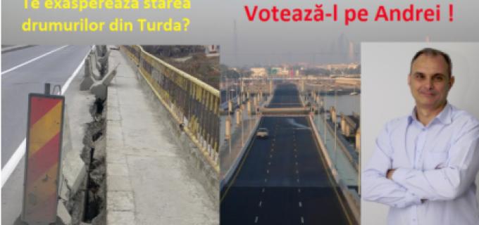 """Andrei Suciu: """"Cu o infrastructură îmbătrînită, Turda nu se poate dezvolta!"""""""
