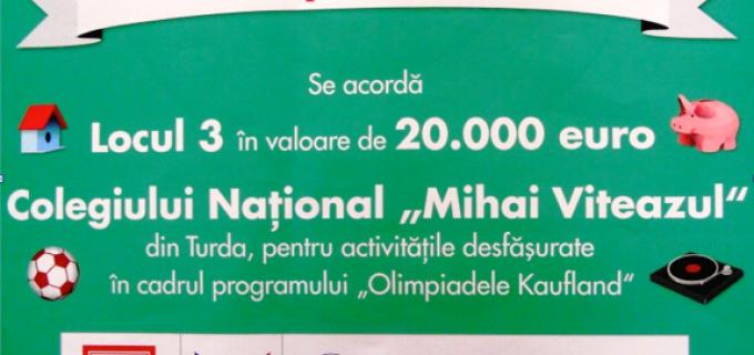 """Colegiul Național ,,Mihai Viteazul"""" Turda va utiliza premiul primit din partea Kaufland pentru proiectul ,,Reabilitare clădire – Centrul de Documentare și Informare(C.D.I.) – Bibliotecă"""""""