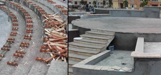 Lucrări de reabilitare a mobilierului urban în Parcul Teilor (Micro)