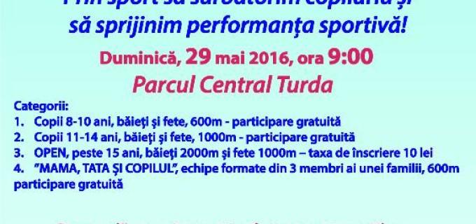 Clubul Rotary Turda susține performanța sportivă! Cros caritabil în Parcul Central.