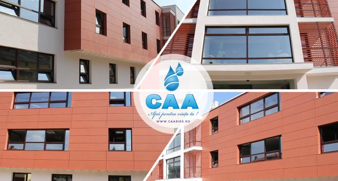 Clădirea ce va găzdui sediul CAA a fost finalizată! Compania de Apă Arieș, dezvoltare durabilă cu finanțare europeană.