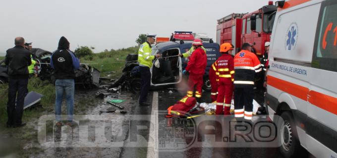VIDEO: Accident rutier soldat cu decesul a trei persoane. Incidentul s-a produs între localitățile Turda și Tureni