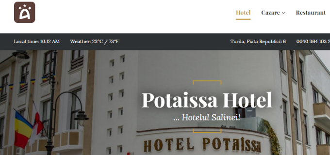 Hotelul Potaissa are website oficial
