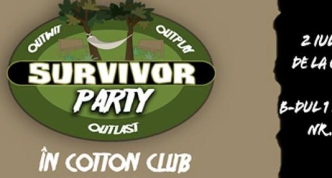 Prima petrecere caritabilă tematică Survivor din România, organizată la Cluj-Napoca, sâmbătă, 2 iulie!