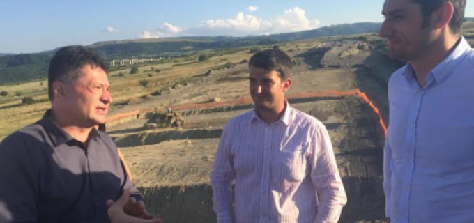 Ministrul Transoporturilor, Sorin Bușe, a efectuat o vizită de lucru pe Lotul 3 al Autostrăzii Orăștie – Sibiu