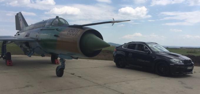 FOTO: Vezi ce mașină se va lua la întrecere cu un MIG 21 Lancer la Câmpia Turzii