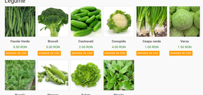Legume vândute online la Turda! Domeniul Public Turda și-a deschis magazin online!
