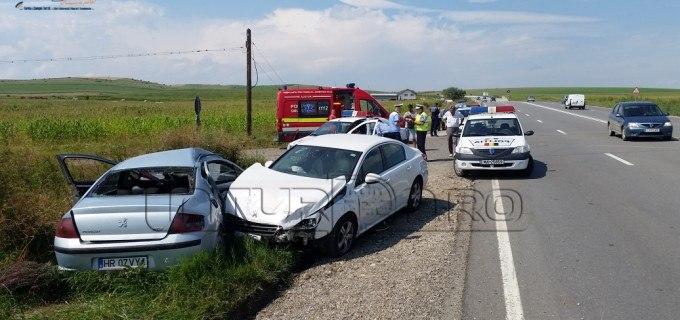 VIDEO: Accident rutier la ieșirea din Turda spre Cluj-Napoca