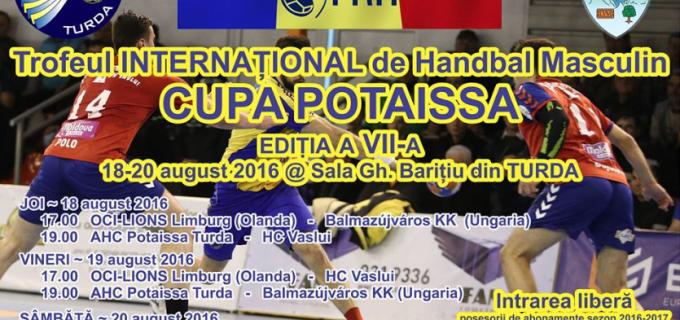 """Turda este capitala handbalului în această săptămână. Vezi aici programul trofeului Internațional """"CUPA POTAISSA"""""""