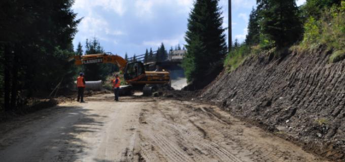 Investiţie de amploare pe drumul judeţean DJ 107R Muntele Băişorii – Muntele Mare (pârtia de schi Buscat)