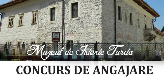 Concurs de angajare la Muzeul de Istorie Turda. Se caută muzeograf și referent specialitate