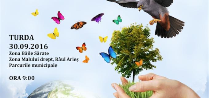 """Eveniment de ecologizare la Turda: ,,Gândesc Verde – Gândesc Curat"""" – o inițiativă a Primăriei Municipiului Turda"""