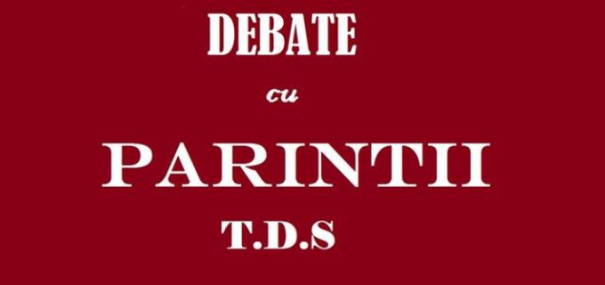 Clubul Da Vinci's organizează un meci de debate inedit, pentru părinți