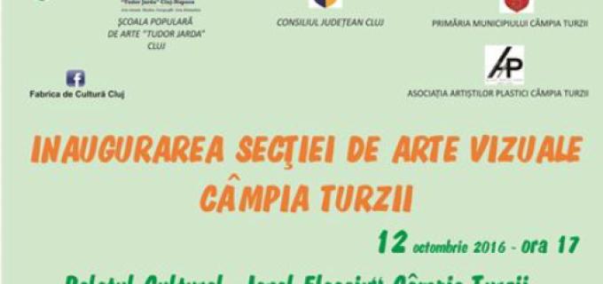 """Şcoala Populară de Arte ,,Tudor Jarda"""" inaugureză secția de arte vizuale din Câmpia Turzii"""