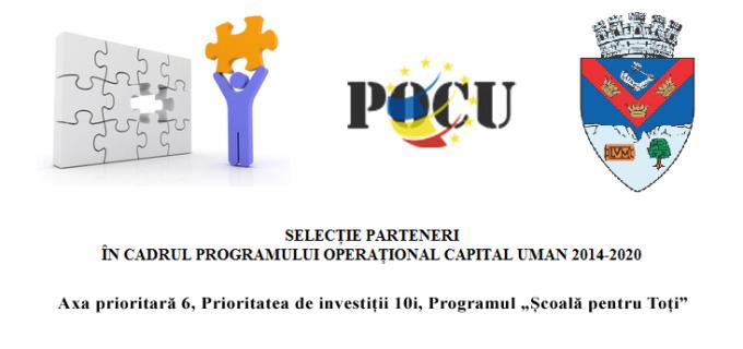 """Anunț: Primăria Turda caută parteneri pentru Programul """"Școală pentru Toți""""."""