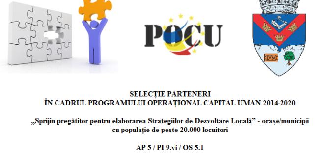 Primăria Turda selectează parteneri pentru un proiect în cadrul POCU 2014-2020