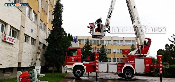 VIDEO: Exercițiu intervenție – Incendiu la Spitalul Municipal Turda