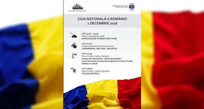 Programul manifestărilor de Ziua Națională a României la Turda
