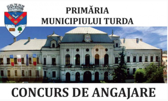 Primăria municipiului Turda organizează concurs pentru ocuparea unor funcții publice vacante