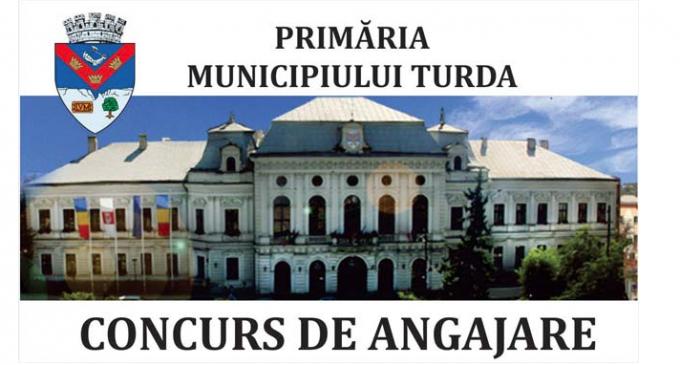 Primăria municipiului Turda  organizează concurs pentru ocuparea următoarelor funcţii publice de execuție vacante:
