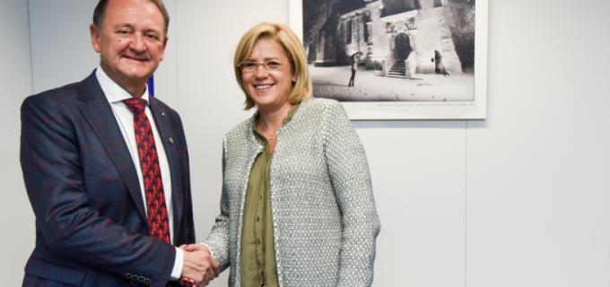 Primarul municipiului Turda, Cristian Octavian Matei s-a întâlnit cu doamna Corina Crețu, Comisar European pentru Politici Regionale