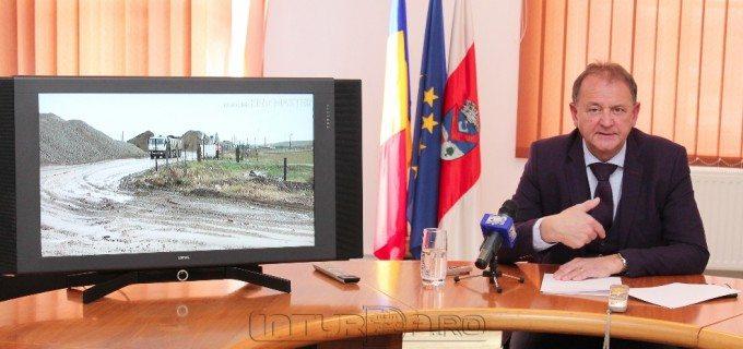 VIDEO: Primarul Matei Cristian, din nou pe teren în zona săpăturilor ilegale de balast