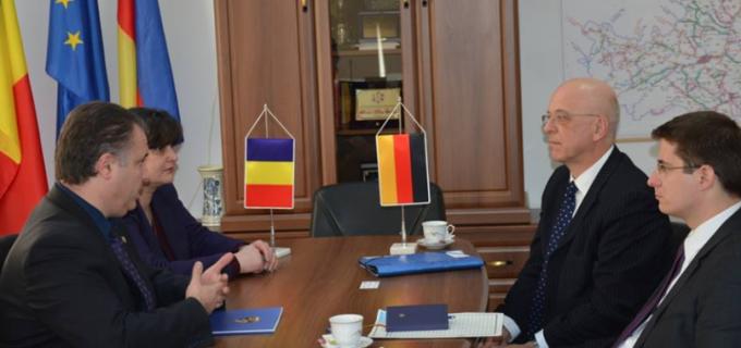 Noul Ambasador al Germaniei, în vizită la Consiliul Judeţean