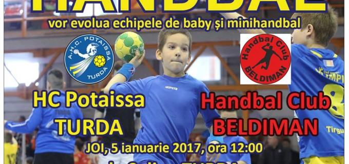 Mini turneu de handbal în subteran, printr-o colaborare între Salina Turda și Potaissa Turda