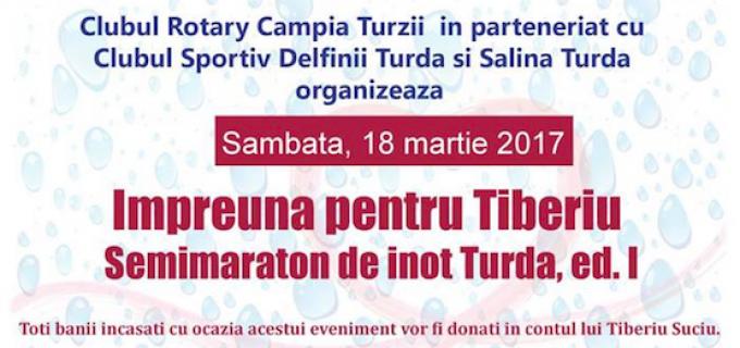 Impreună pentru Tiberiu: Semimaraton de înot – TURDA, ediția I, 18 martie 2017