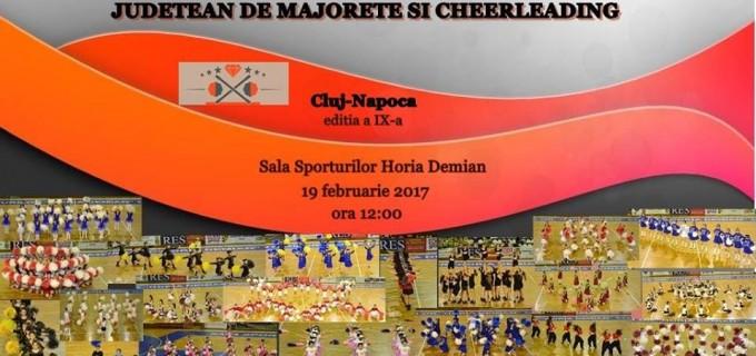 """Campionatul județean de Majorete, în 19 februarie, la Sala Sporturilor """"Horia Demian"""""""