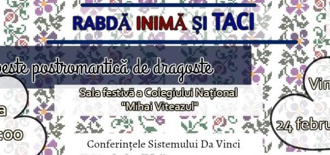 """Asociatia The Da Vinci System organizează conferinta """"Rabdă inimă și taci"""""""
