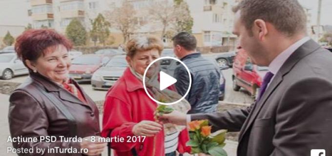 VIDEO/Foto: Acțiune a PSD Turda cu ocazia zilei de 8 martie