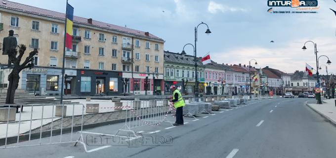 Autoritățile au demarat lucrările de realizare a noilor locuri de parcare din zona centrală