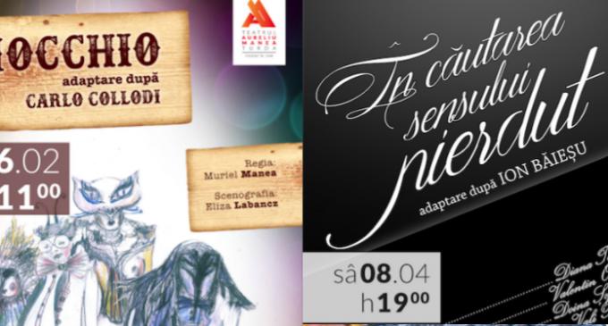"""Noi premiere și surprize pe scena Teatrului """"Aureliu Manea"""" din Turda."""