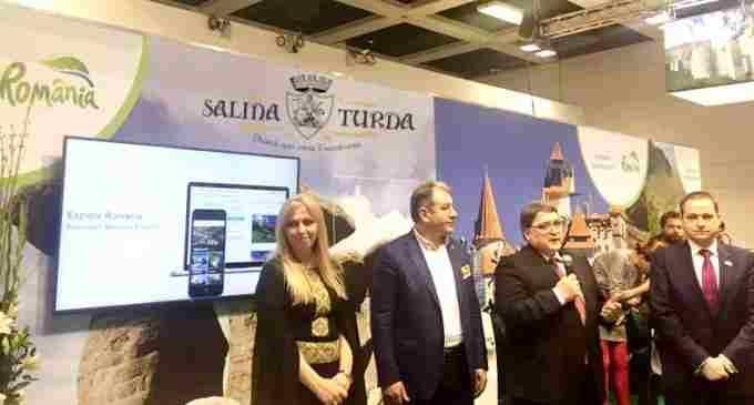 """Salina Turda este prezentă la cel mai mare târg de turism din lume! Ministerul Turismului a lansat la ITB Berlin aplicația """"Explore RO"""""""