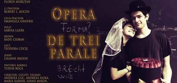 """Comedie muzicală de excepție la Teatrul Aureliu Manea Turda: """"Opera de trei parale"""""""