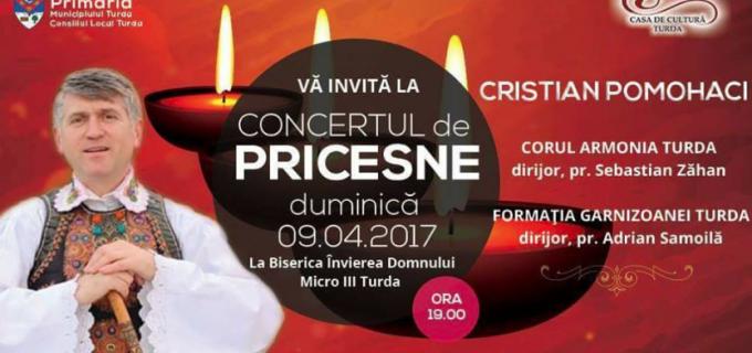 Concert de Pricesne la Turda în Duminica Floriilor