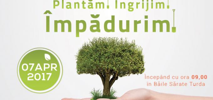 """""""Plantăm, îngrijim și împădurim!"""" – Peste 1500 de puieți vor fi plantați în zona Băilor Sărate"""