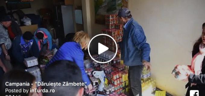 VIDEO/Foto: Dăruiește zâmbete – campanie de donații jucării și alimente, inițiată de Primăria Turda!