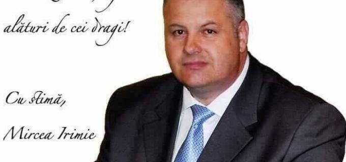 """Mircea Irimie: """"Cu ocazia Sfintei Sărbători a Învierii Mantuitorului nostru Iisus Hristos vă doresc tuturor sănătate si bucurii alături de cei dragi!"""""""