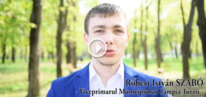 VIDEO: Viceprimarul municipiului Câmpia Turzii, Róbert Szabó, mesaj special cu ocazia Sărbătorilor