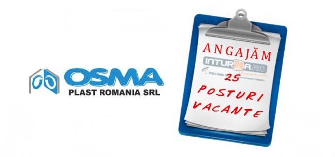 25 de posturi vacante la OSMA PLAST Turda