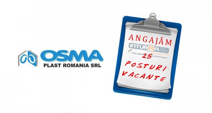 SC Osma Plast angajează personal pentru 4 posturi libere