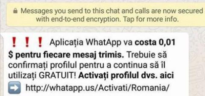 Păcăleală pentru utilizatorii aplicatiei WhatsApp. Vezi ce recomandă Politia Română: