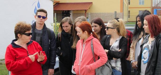 Studenti ai Univesitătii Babeș-Bolyai în vizită la Compania de Apă Arieș