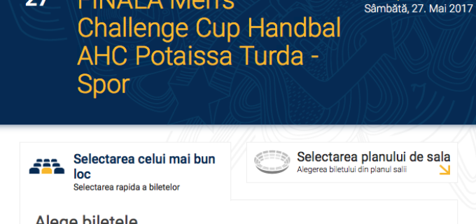 S-au pus în vânzare biletele pentru finala Challenge Cup: Potaissa Turda vs. Sporting